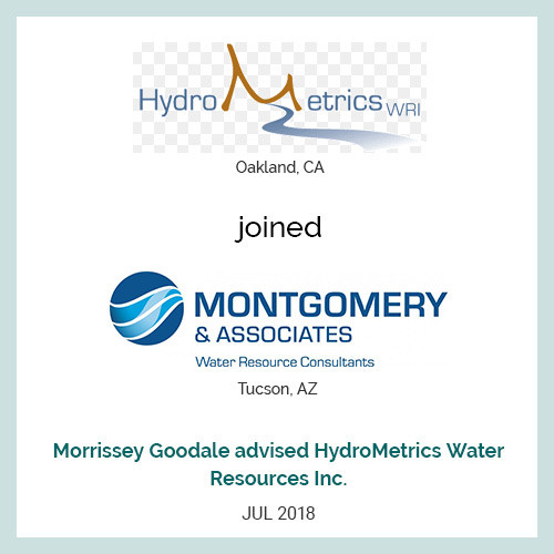 HydroMetrics Water Resources Inc. (Oakland, CA) joined Montgomery & Associates (Tucson, AZ).